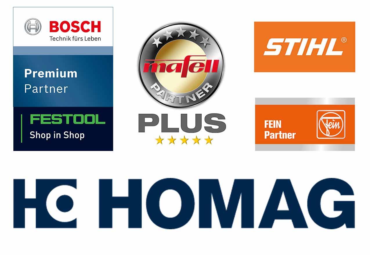 Wir sind Partner von Homag, Stihl, Bosch, Mafell, Fein und Festool